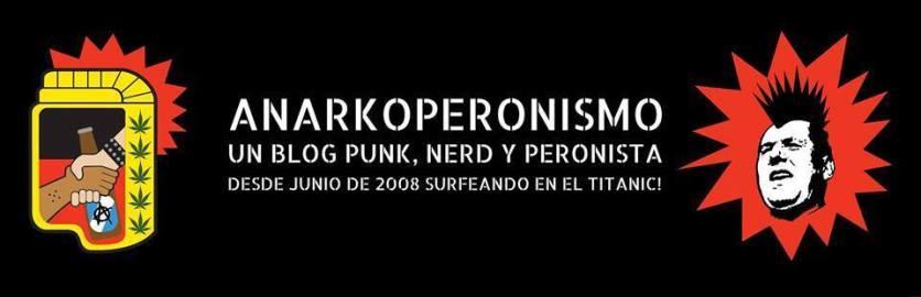 Rediseño de portada original para blog anarkoperonismo.blogspot.com